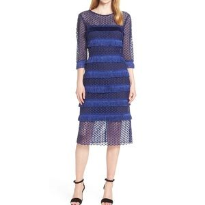 MARK + JAMES BY BADGLEY MISCHKA Fringe Lace Dress